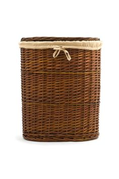 Wicker laundry basket- hides my kitchen trashcan in the dining room