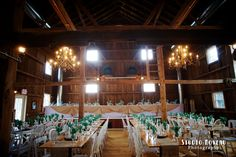 Wisconsin barn wedding.  The Barn at Harvest Moon Pond