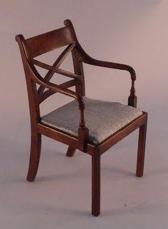 Cross Back Arm Side Chair by Tarbene-Alan Barnes
