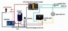 ESP8266 internet switch schematic