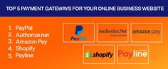 Best Payment Gateways for Your Online Business Website #onlinepayment #paymentgateway #onlinebusiness #websites #webdesign Business Website, Online Business, Web Design, Website Designs, Site Design