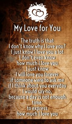 Sweet Love Quotes for Him and Her - Love You Poems, Love Poem For Her, Love You A Lot, True Love Quotes, Love Quotes For Her, Quotes For Him, Be Yourself Quotes, Life Quotes, My Love