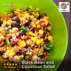Black Bean and Couscous Salad from Allrecipes.com #myplate #protein #grain