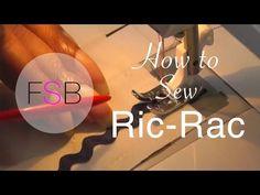 How to Sew Ric Rac - YouTube