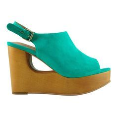 Cut out wedge in aqua