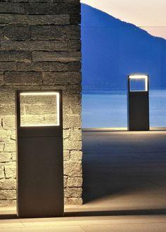 LED Bollard light COOL SQUARE by SIMES @simeslighting