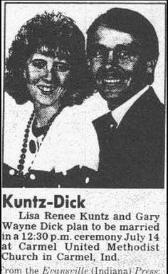 Mr. & Mrs. Kuntz-Dick. | 15 Wedding Announcements From Couples With Deeply Unfortunate Names