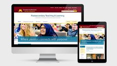University of Minnesota Postsecondary Teaching and Learning Website #OurWork #Development #UX #WebsiteDesign