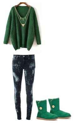 """""""Untitled #237"""" by sweet-strawberry-fairy ❤ liked on Polyvore featuring Denim & Supply by Ralph Lauren, UGG Australia and Edge of Ember"""