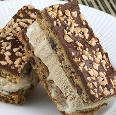 Coffee Caramel Crunch Ice Cream Sandwiches