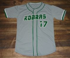 Check out this custom jersey designed by Kobras Baseball and created at Pro Player Supply in Everett, WA! http://www.garbathletics.com/blog/kobras-baseball-custom-jersey/ Create your own custom uniforms at www.garbathletics.com!