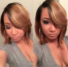 awesome 30 Trendy Hairstyles for Short Hair // Dope Hairstyles, Short Bob Hairstyles, Medium Hair Styles, Short Hair Styles, Pixie Styles, Bob Styles, Bold Hair Color, Beautiful Braids, Relaxed Hair