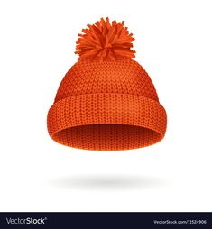 Knitted Woolen Red Hat for Winter Season vector image on VectorStock Hat Vector, Vector Free, Everyday Objects, Red Hats, Winter Season, Felt Crafts, Art Lessons, Adobe Illustrator, Clip Art