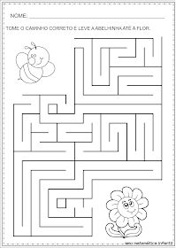 Symmetry Worksheets, Tracing Worksheets, Preschool Worksheets, Learning Activities, Kids Learning, Activities For Kids, Maze Worksheet, Mazes For Kids, Maze Puzzles