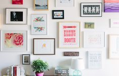 Cait Weingartner's Chicago Studio Tour // gallery wall // photography by Stoffer Photography