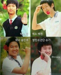 the real f4--> VIXX N, EXO Baekhyun, WINNER Min ho, BTS Suga #boysoverflowers #f4