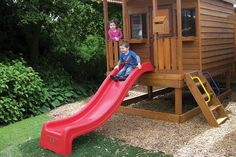 How to Easily Add Kids Slides to Your Timber Cubby House Kids Cubby Houses, Kids Cubbies, Play Houses, Outdoor Fun For Kids, Kids Fun, Playground Slide, Kids Slide, Small Sheds, The Ranch