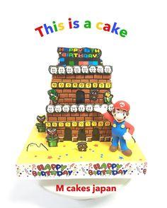 マリオ〜❤️ #マリオ #ケーキ#Mario #fondantfigure #mariocake #2段ケーキ