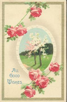 """""""All Good Wishes"""" postcard."""