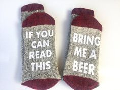 Beer socks, Wool thermal funny socks, If you can read this bring me a beer, Gift for him, Christmas gift, Whiskey socks