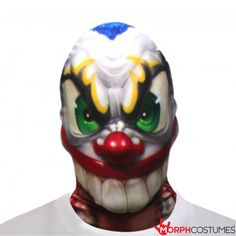 Circus Fancy Dress Costume Inspiration: Get a-head into this limited edition mask, designed by an acclaimed graffiti artist in Canada, and go and scare the bejesus out of someone when Halloween comes round.The Scary Clown MorphMask. Circus Themed Costumes, Circus Fancy Dress, Famous Graffiti Artists, Cartoon Graffiti, Banksy Graffiti, Artist Aesthetic, Scary Clowns, Artist At Work, Party Themes