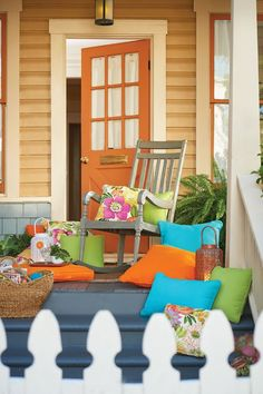 Rock the day away on the farmhouse-style Generations Porch Rocke! Have a little fun with your outdoor furniture and add a pop of color with fun throw pillows and cushions. Wide our wide selection of furniture and cushions, we have something for everyone.