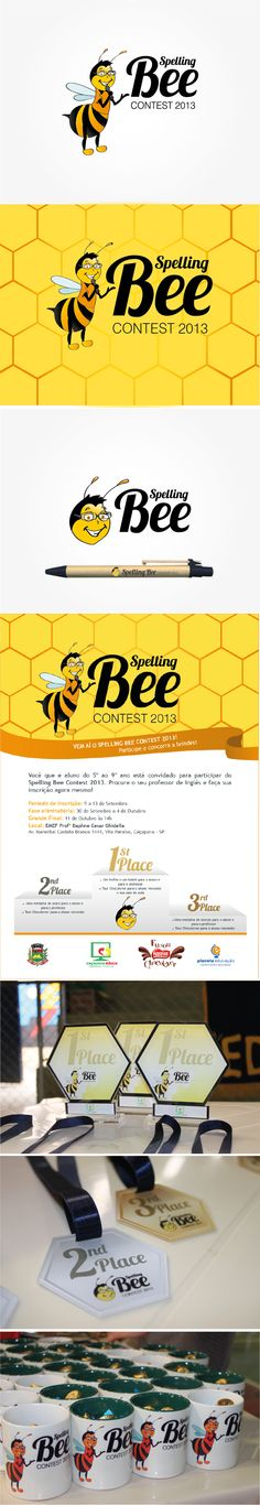 Spelling Bee Contest by Camila Prado, via Behance