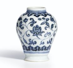 COLLECTIBLES JINGDEZHEN Old BLUE AND WHITE PORCELAIN DOUBLE JOY TEA CANISTER RT