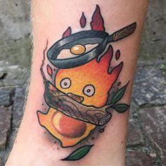 Calcifer tattoo from yesterday! #calcifer #studioghibli #ghibli…