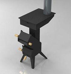 Madera cohete horno de gasificación #cocinasNegras