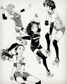 Credit to artist Drawing Reference Poses, Drawing Poses, Manga Drawing, Manga Art, Manga Poses, Anime Poses, Character Concept, Character Art, Volleyball Drawing