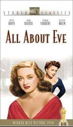 """All About Eve"" (1950) is another Bette Davis masterpiece as she portrays the aging actress, Margo Channing.  ""Fasten your seat-belts, it's going to be a bumpy night"""