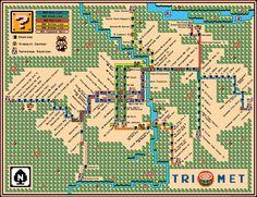 Portland Trimet Map 2015 by davegeekyideas