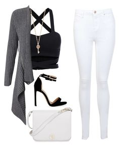 """Gray/white"" by rownak on Polyvore featuring Miss Selfridge, Autumn Cashmere, Aéropostale and Furla"