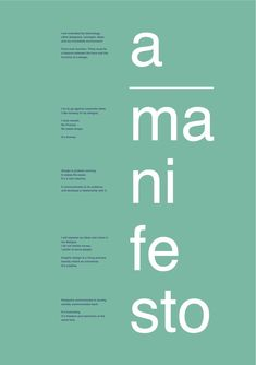 Design Manifesto - ollietigwell