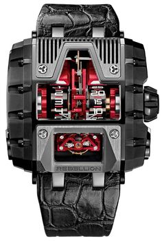 The Rebellion Gotham Watch is a unique luxurious watch. At the first glance it feels like a piece of some sic-fiction movie prop coupled with Batman's Mobile with a top up of masculinity.These watches have the highest power reserve of over 1000 hours. Amazing Watches, Beautiful Watches, Cool Watches, Watches For Men, Unique Watches, Stylish Watches, Wrist Watches, Dream Watches, Fine Watches