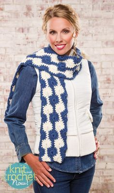 Free Crochet Pattern Download -- This Midnight Snowballs Scarf, design from Premier Yarns Design Team, is featured in episode 406 of Knit and Crochet Now! TV. Learn more here: www.knitandcrochetnow.com