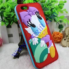 Cartoon Cute Duck PC+Soft pvc phone case covers
