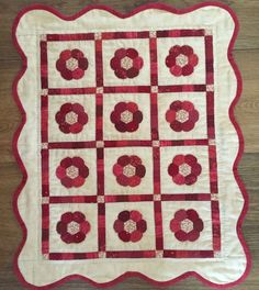 Red Button Quilt Co. - Little Red Two Applique Patterns, Applique Quilts, Quilt Patterns, Small Quilts, Mini Quilts, Sue Daley English Paper Piecing, Red And White Quilts, Circle Quilts, Miniature Quilts