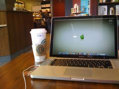 Sitting at Starbucks