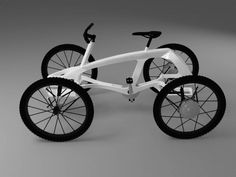 Quadricycle - I think I could actually get the wife to join me for a ride on this one. Cool Bicycles, Cool Bikes, Tricycle, Quad Bike, Cargo Bike, 3d Models, Pedal Cars, Bicycle Design, Go Kart