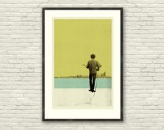 Bob Dylan Inspired 20 x 30 Handprinted Silkscreen Art Print, DYLAN IN SEATTLE, Modern Poster, Vintage Style