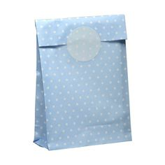 Blue Pastel Polka Treat Bags with Spots Pack of 10. Ideal for parties, sweet treats, baby showers and much more. Shop Here !