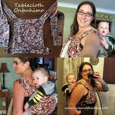 Fine and Fair: DIY Tablecloth Onbuhimo Tutorial Baby Sewing Projects, Sewing For Kids, Diy For Kids, Clutch Bag Pattern, Baby Wearing Wrap, Diy Couture, Baby Shower Balloons, Baby Wraps, Cool Baby Stuff