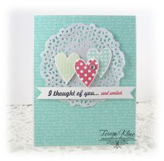 created by Teresa Kline using W Plus 9 Stamps.... http://paperieblooms.blogspot.com/2014/02/i-thought-of-youand-smiled.html