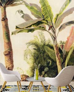 We've called this one FRIDAY. Any guesses why? A N Wallpaper, Custom Wallpaper, Designer Wallpaper, First Friday, Wall Design, Painting Prints, This Is Us, Custom Design, Tropical