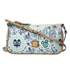 ]Carry happy memories of your Disney Vacation Club visit with you wherever you go. Fashioned in leather, this Crossbody Pouchette by Dooney & Bourke features an allover print with images that will remind you of your fun holiday. Dooney And Bourke Disney, Disney Dooney, Dooney Bourke, Disney Handbags, Disney Purse, Disney Vacation Club, Disney Vacations, Mickey Mouse, Disney Outfits