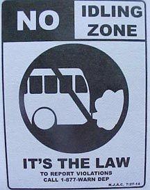 Car Idling - No Idling Zone