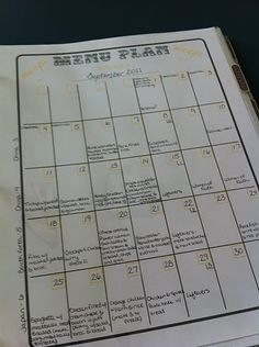 Printable Calendar for meal planning.  Printed it off!  Hopefully, I will be more organized now!