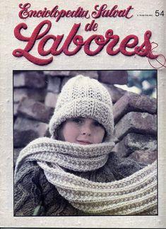 Labores de Salvat Nº 54, 1981 Crochet Books, Crochet Hats, Winter Hats, Vintage, Beret, Pictures, Tutorials, Ganchillo, Weaving